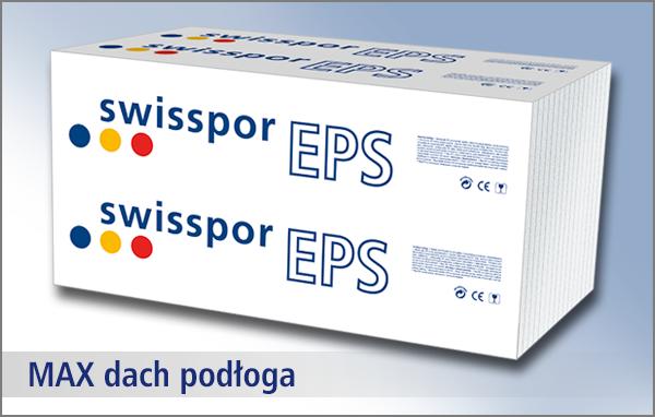 Swisspor styropian biały Max Dach/Podłoga 038 - EPS 80 2,4t / m2
